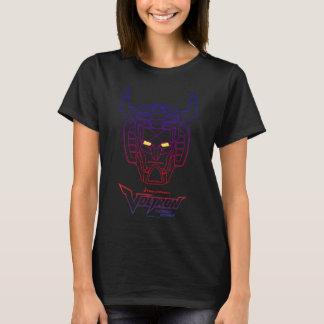 Voltron   Blau-Rote Steigungs-Kopf-Kontur T-Shirt