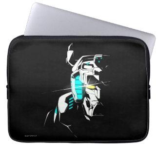Voltron   glänzende Augen-Silhouette Laptopschutzhülle