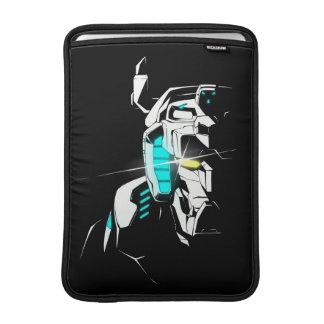 Voltron   glänzende Augen-Silhouette MacBook Air Sleeve