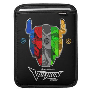 Voltron   Piloten in Voltron Kopf iPad Sleeve