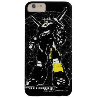 Voltron   Silhouette über Karte Barely There iPhone 6 Plus Hülle