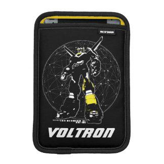 Voltron   Silhouette über Karte iPad Mini Sleeve