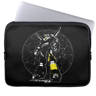 Voltron   Silhouette über Karte Laptopschutzhülle