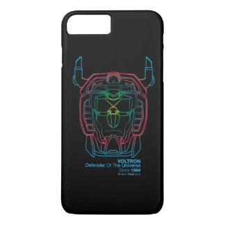 Voltron   Versuchsfarbsteigungs-Kopf-Kontur iPhone 8 Plus/7 Plus Hülle