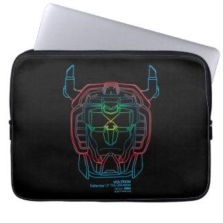 Voltron   Versuchsfarbsteigungs-Kopf-Kontur Laptopschutzhülle