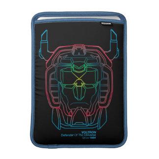 Voltron   Versuchsfarbsteigungs-Kopf-Kontur MacBook Air Sleeve
