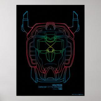 Voltron | Versuchsfarbsteigungs-Kopf-Kontur Poster