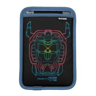 Voltron   Versuchsfarbsteigungs-Kopf-Kontur Sleeve Für iPad Mini