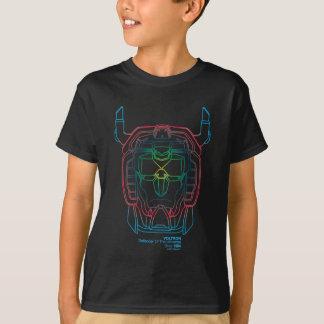 Voltron   Versuchsfarbsteigungs-Kopf-Kontur T-Shirt