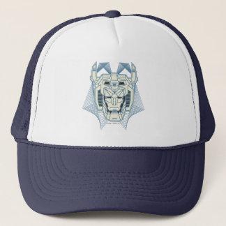 Voltron | Voltron blaue und weiße HauptKontur Truckerkappe