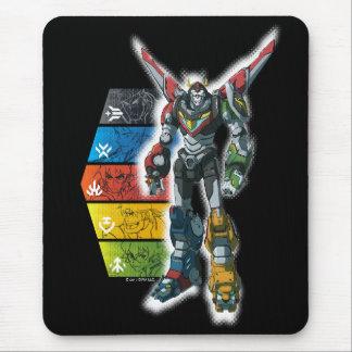 Voltron   Voltron und Piloten grafisch Mousepad