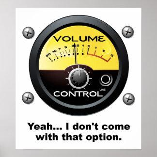 Volumen-Kontrollen-lustiges Plakat