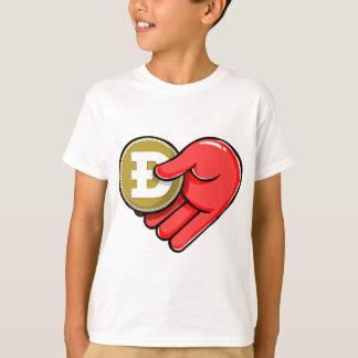 Vom Doge mit Liebe Dogecoin die Herz-Form T-Shirt