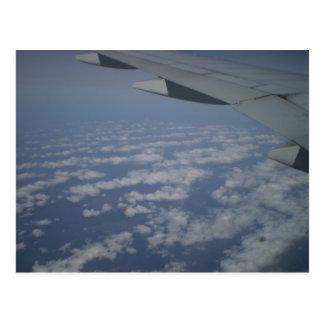 Vom Flugzeug Postkarte