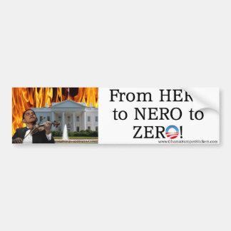 Vom Held zu Nero zum nullAutoaufkleber Autoaufkleber