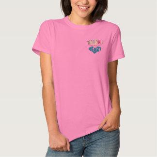 Vom Herzen Besticktes T-Shirt
