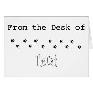 Vom Schreibtisch der Katze Karte