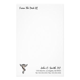 """""""Vom Schreibtisch"""" des Chiropraktik-Briefpapiers Briefpapier"""