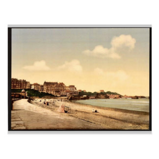 Vom Strand Biarritz, Pyrenäen, Frankreich Vintag Postkarte