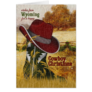 vom Wyoming-Cowboy-WeihnachtsWestern-Stiefel Karte