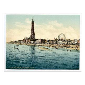 Vom zentralen Pier Blackpool, England Vintages Postkarte