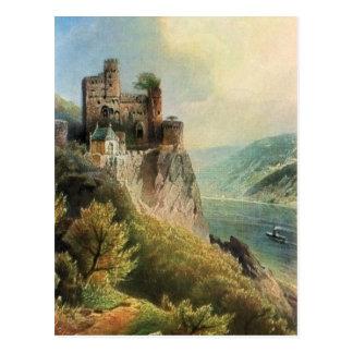 Von Astudin, Burg Rheinstein Postkarte