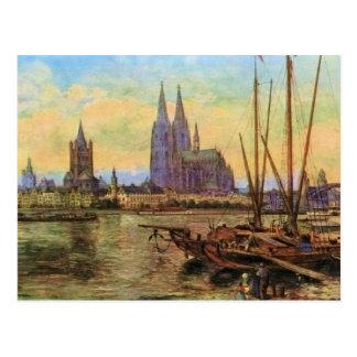 Von Astudin, Koeln morgens Rhein Postkarte