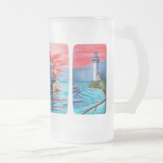 Von den Leuchtturm-Meerjungfrauen Mattglas Bierglas