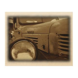 Von den Zeiten vorbei gegangen Holzdruck