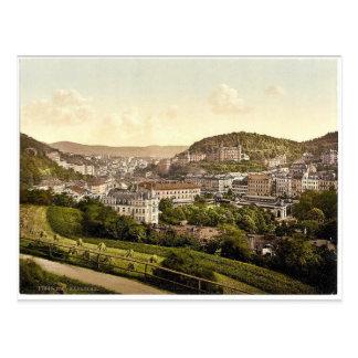 Von der Bellevue Straße Karlsbad, Böhmen, Austr Postkarte