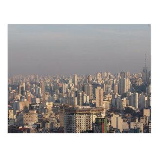 Von der Luftpanoramisches - Sao-Paulo Postkarte
