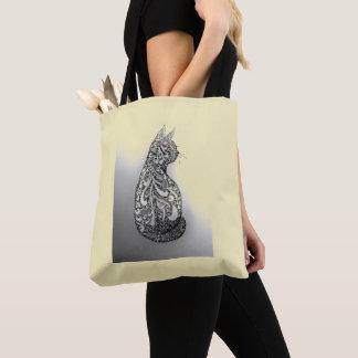 Von Hand gezeichnete ursprüngliche dekorative Tasche