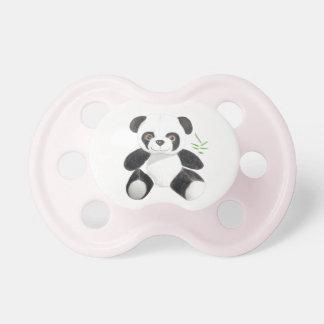 Von Hand gezeichneter Panda-Plüsch Schnuller