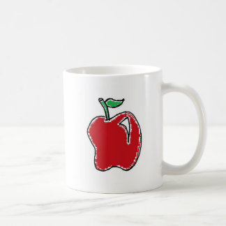 Von Hand gezeichnetes Apple entwerfen Kaffeetasse