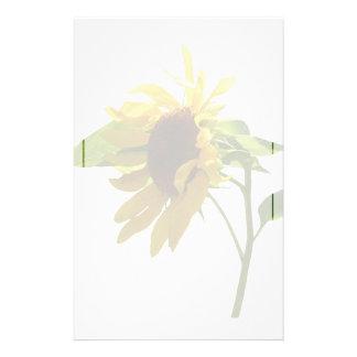 Von hinten beleuchtete Sonnenblume Briefpapier