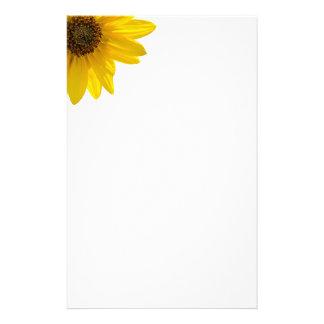 Von hinten beleuchtete Sonnenblume (Helianthus) Briefpapier