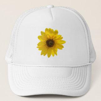 Von hinten beleuchtete Sonnenblume (Helianthus) Truckerkappe