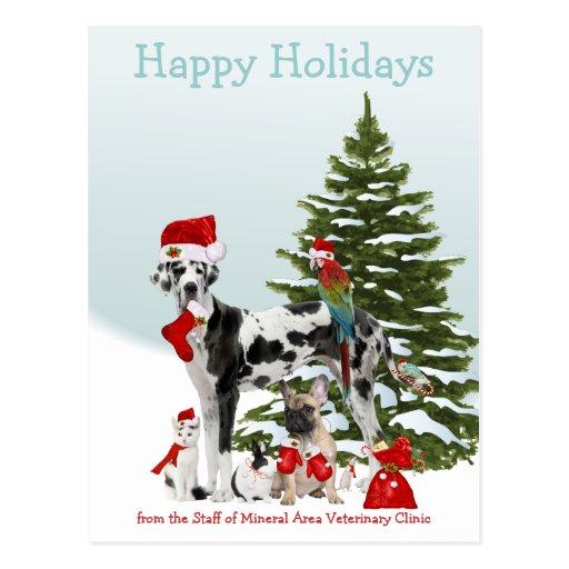 Von Ihren tierärztlichen Sankt-Haustieren Postkarte