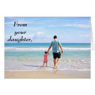 Von Ihrer der Vatertags-Karte Tochter-glücklichen Grußkarte