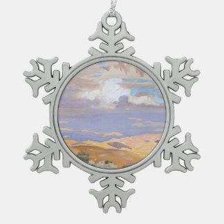 Von Jerusalem Schneeflocken Zinn-Ornament