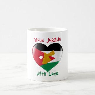 Von Jordanien mit der Liebe-Flaggen-Tasse Kaffeetasse