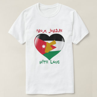 Von Jordanien mit Liebe-Flaggen-T - Shirt