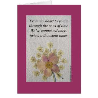 Von meinem Herzen zu Ihrem haben wir angeschlossen Karte