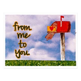 von mir zu Ihnen Postkarte