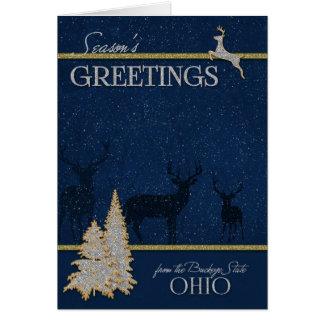 von Ohio das Rosskastanien-Staats-Weihnachten Karte