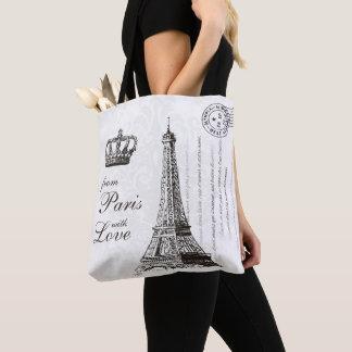 Von Paris mit Liebe-Vintagem Eiffel-Turm Tasche
