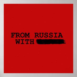 von Russland mit------- Poster