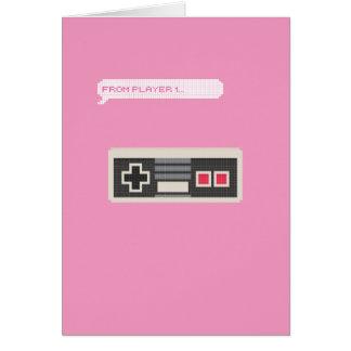 Von Spieler1 bis Spieler2 Gamer-Valentinstag Grußkarte
