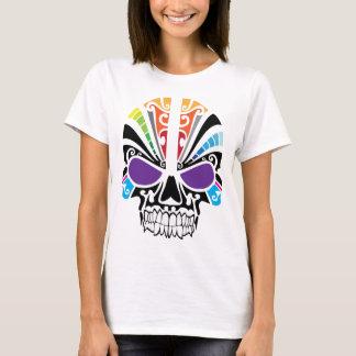 Voodoo-Regenbogen-Schädel T-Shirt