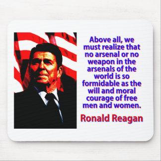 Vor allem müssen wir - Ronald Reagan verwirklichen Mousepad